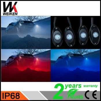 WEIKEN 8 Pod RGB Mini LED Rock Light Waterproof Car Accessories chinese auto spare parts