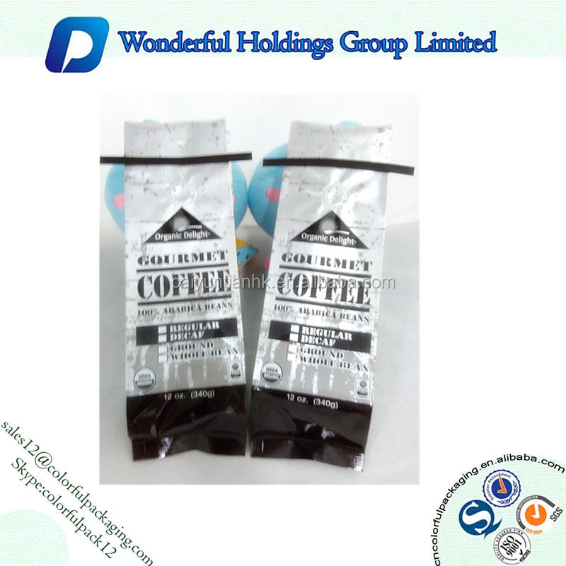 1kg 2lb coffee bean and ground coffee bag one way degassing valve for coffee packaging