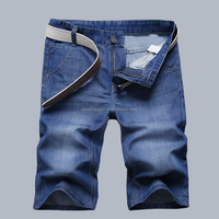 Blue Color Men Short Denim Jeans