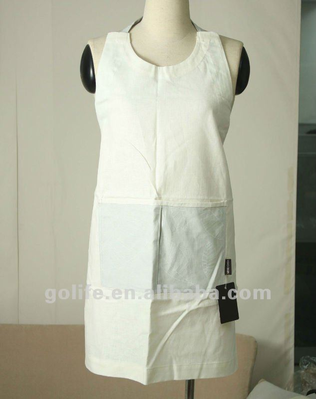 plain white aprons cotton,wholesale cotton aprons,lace waist aprons