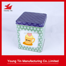wholesale tin tea chest storage tin box container Jar canister