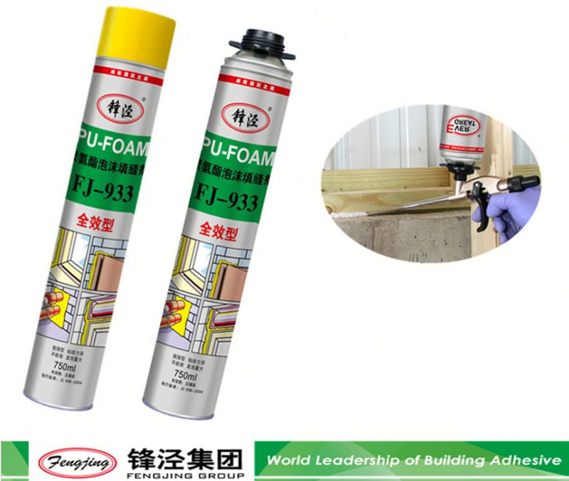 Double adhesive 800g white closed cell spray pu foam sealant directly sale