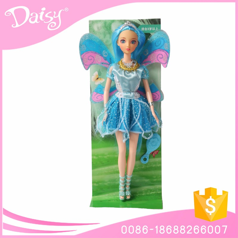 Mini real plastic ddung fashion flying fairy barbiee doll