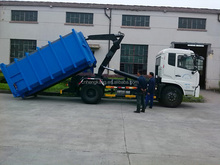 best seller China cheap good quality sino manual diesel manual 1 Ton hook lift new compactor garbage truck