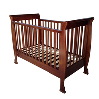 3 in 1 fixed rail solid pine wooden baby cot