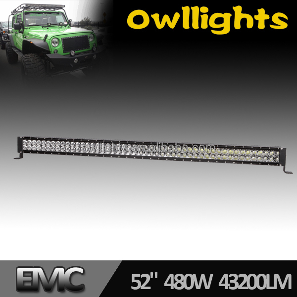 "Super brightness , 50'' 480w led light bar 4x4 ,50"" 288w led bar light with best chip for Off road motorcycle,ATV,SUV,4WD"
