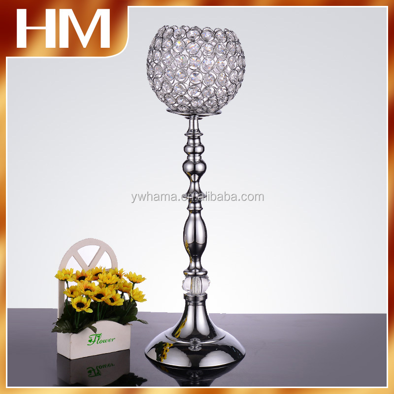 New !flower bowl wedding candelabra/Tall Centerpiece wholesale with flower bowl