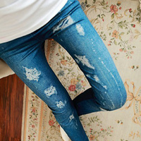 Sex korea printed jeans leggings