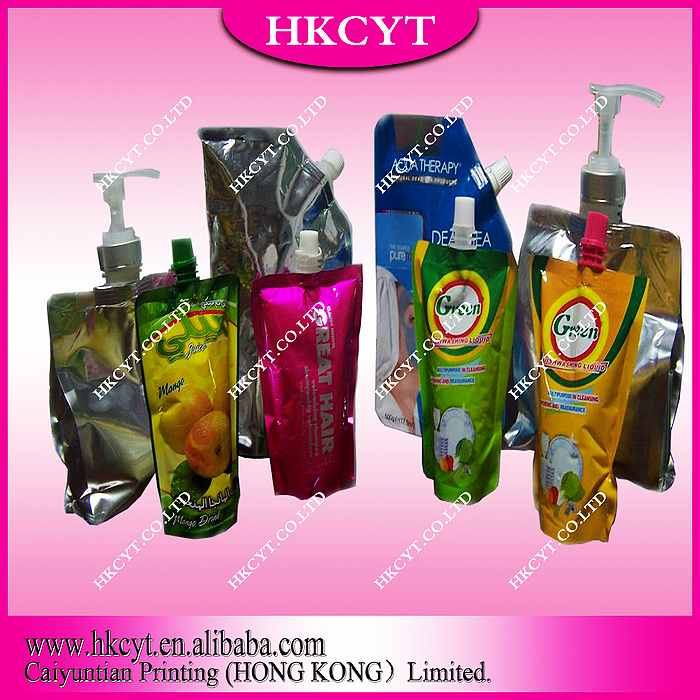 Stand up Spout Bag for Liquid Soap packaging/Daily products/Custom design plastic packaging bag