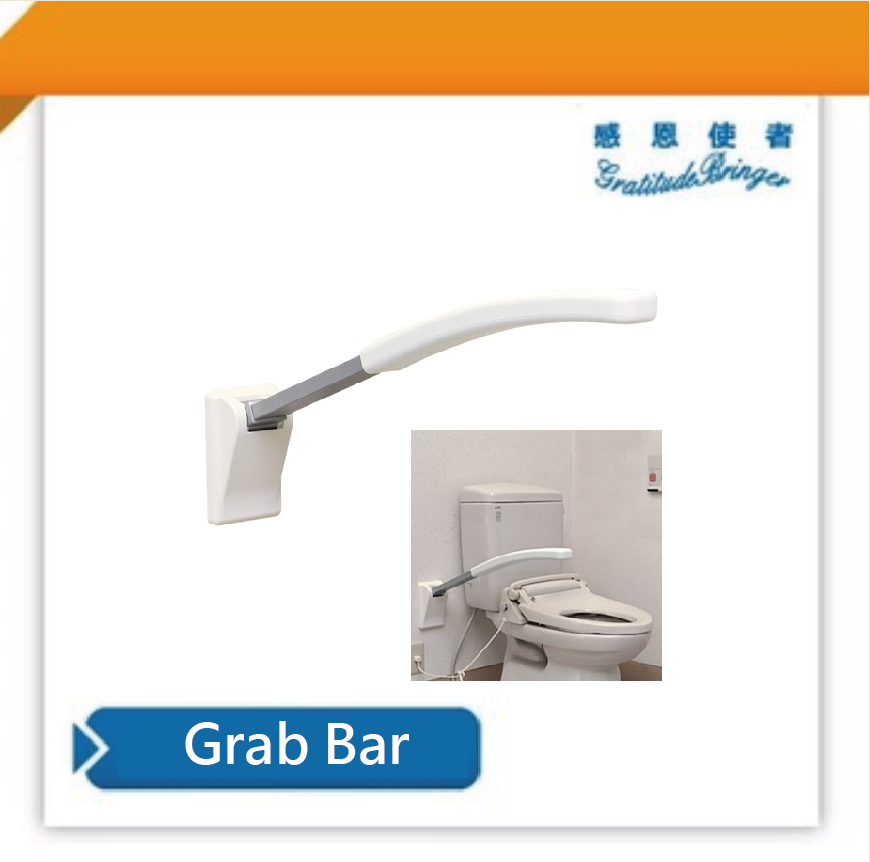 Japan Lift Up Toilet Handrail for Disabled in Bathroom Armrest Type 60cm