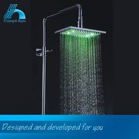 Elegant Top Quality Various Design Advantage Price Led Lighted Rain Shower Head Bathroom Accessories