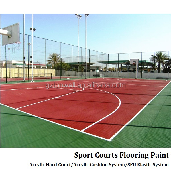 Quality primacy professional acrylic cushion system tennis and basketball court