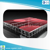 high quality Aluminum portable stage with adjustable height and mobile folding platform with anti-slip surface