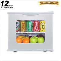 Discount clear front table top mini fridge with lock