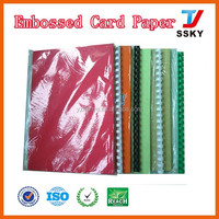 A4 embossed leather book binding paper cover for book cardboard