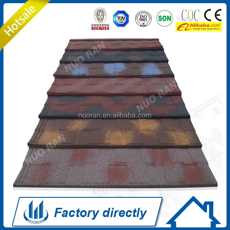 Zambia New CE SGS ISO Africa Roman Stone Coated Metal Roof Tile