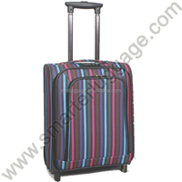 Trendy Stripe Polyester Travelling Trolley Luggage