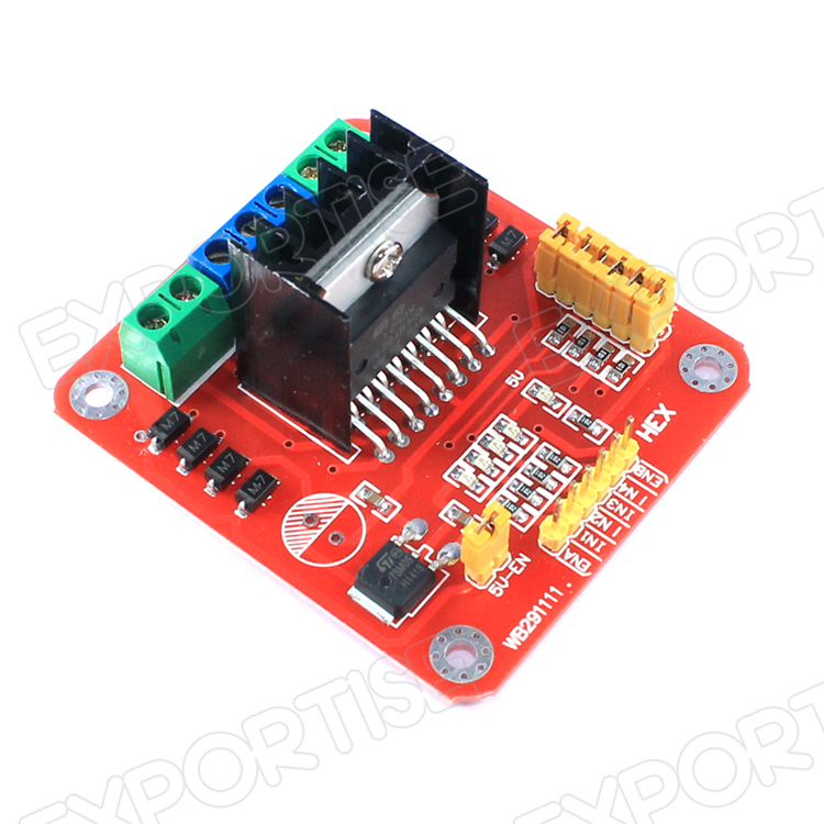 L298n dual h bridge motor driver controller for arduino for Raspberry pi motor speed control