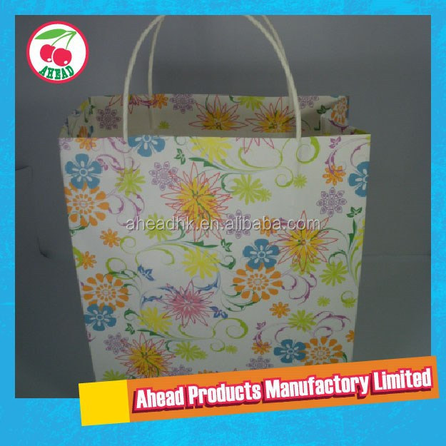 Large Full Color Printing White Kraft Paper packaging bag