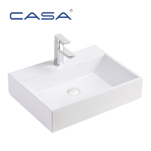 Rectangle Vessel Sinks Ceramic Bathroom Face Wash Basin For Utility