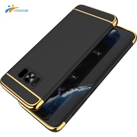 XDDZ 3 in 1 Back Cover Hard Luxury Electroplated Phone Case for Samsung Galaxy S8 Cover Case, Ultra-thin