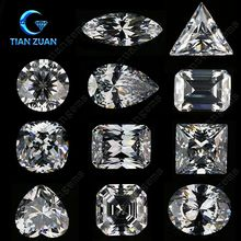 6A quality various shape white colorless cubic zirconia (CZ)