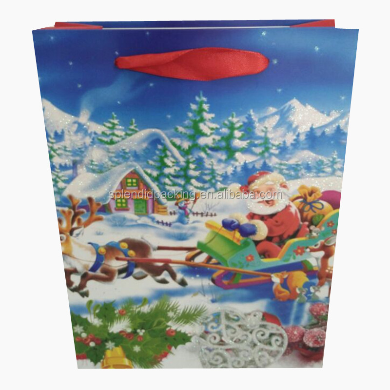 Manufacturers Custom Unique Gift Packaging Greeting Card Christmas Paper Bag