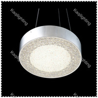 Modern Crystal sand Round Silver Pendant Light LED Chandelier Lighting