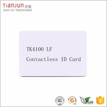 mango tk4100 chip card with latest medical id bracelet engraved ISO card