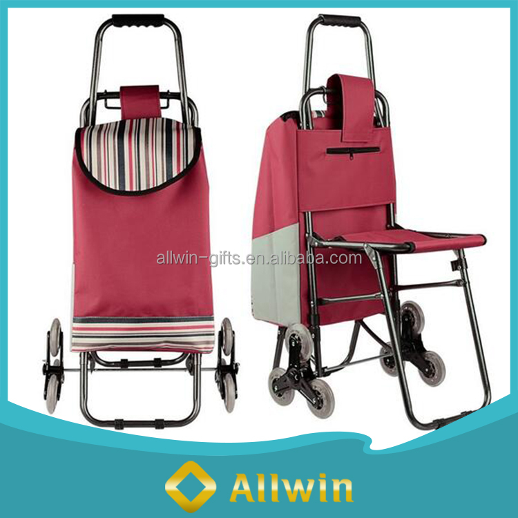 Multipurpose Popular Nylon Shopping Trolley Bag With Seat