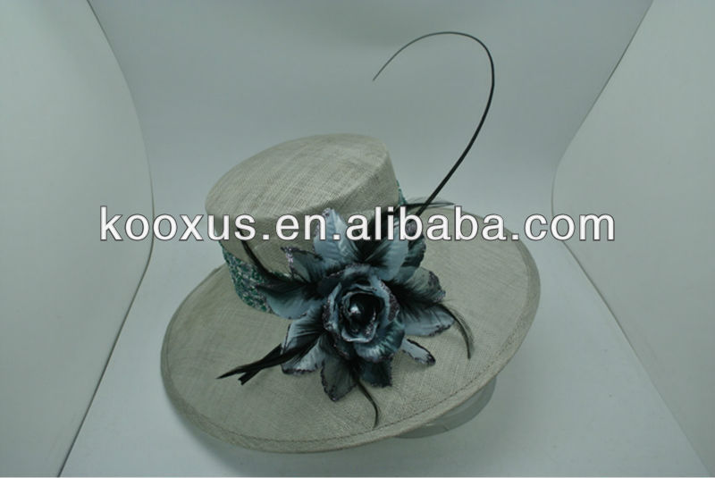 Plain sinamay linen hat wholesale