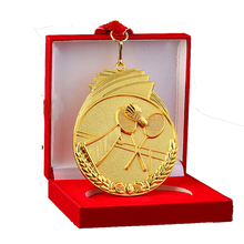 New Arrival Badminton Competition Medal Gift Box Make Metal Alloy Medal