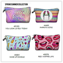 latest new fashion polyester makeup canvas cosmetic bag