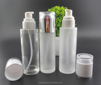 100ml glass lotion bottle with lotion pump, glass pump bottle for whitening lotion