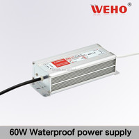 good price waterproof 60w 24v LED driver 2.5a power supply