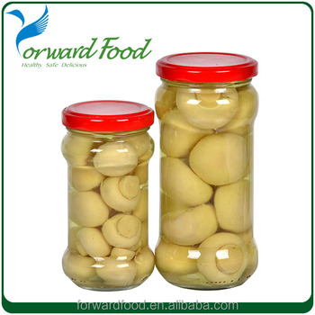 New crop mushroom canned in whole or pieces