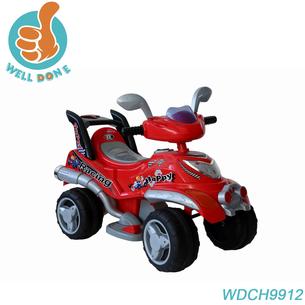 High quality electric toys for kids, baby ride on motorcycle with four wheels WDCH9912