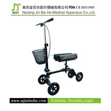Medical steerable knee scooter for disabled leg injury rehab use