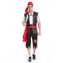 Halloween pirate costumes for man cool cosplay party costume Indian style classic pirate clothes
