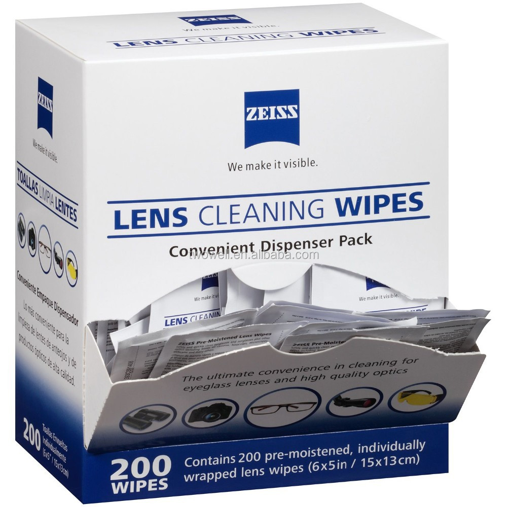 wet glass tissue lens cleaning wipes convenient dispenser pack