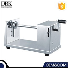 DBK Manual spiral potato chips machine/twisted chips potato cutter/potato chip spiral cutting machine