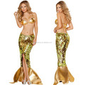 perfect mermaid sexy role-playing long skirt suit uniform lingerie sets,bra and dress