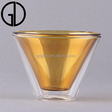 lead free double wall glass coffee drinking glass cup types of glassware