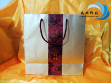 hot sale gold color cardboard paper packaging bag for wine