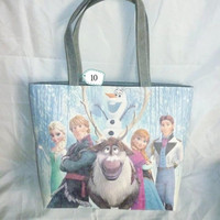 Cartoon handbag Snow print fashion lady bag