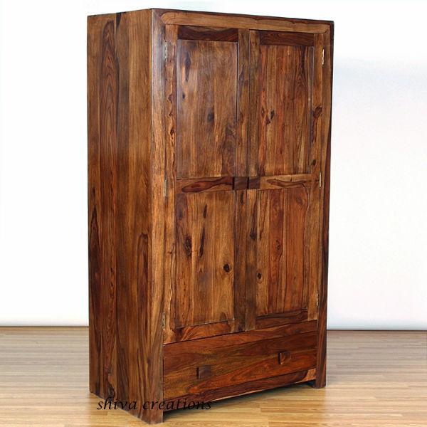 acheter en ligne sheesham bois garde robe garde robe id de produit 141429852. Black Bedroom Furniture Sets. Home Design Ideas