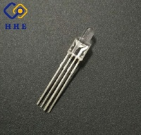 Through hole lower power high brightness round 3mm rgb led 4 pin diode common anode