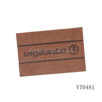 custom jeans pu leather patch for clothing