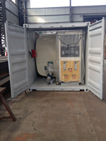 40feet 55000 L container oil tank/portable gas station tank with ISO certificate