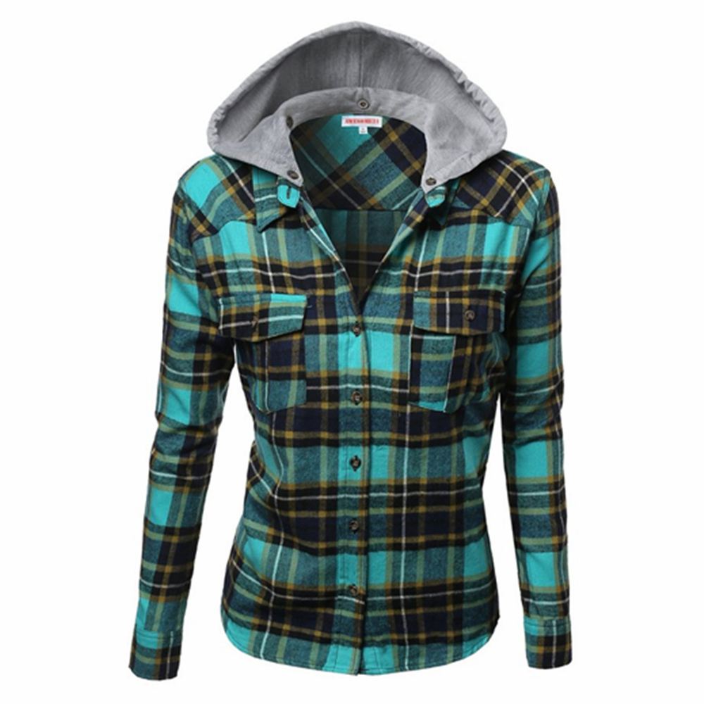 Stylish Big Plaid Cap Sleeve Scotland Check Shirt for Girls